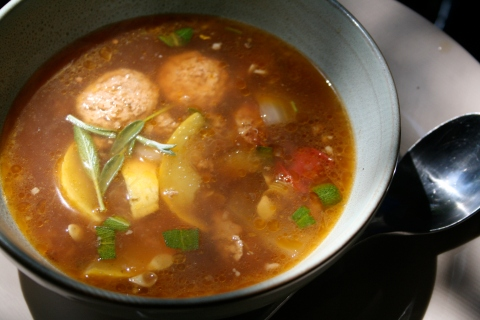 squash  and sausage soup